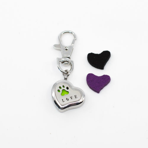 Heart Shape Essential Oil Air Freshener Charm Keychain