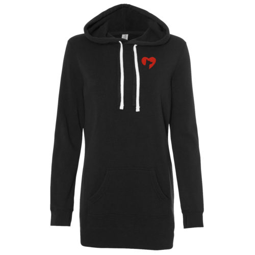 IHD Icon Embroidered Women's Long Pullover Hoodie