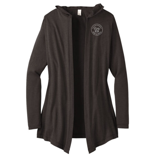 Sponsored By Wine & Dog Embroidered Women's Hooded Cardigan