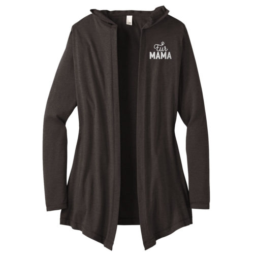 Fur Mama Embroidered Women's Hooded Cardigan