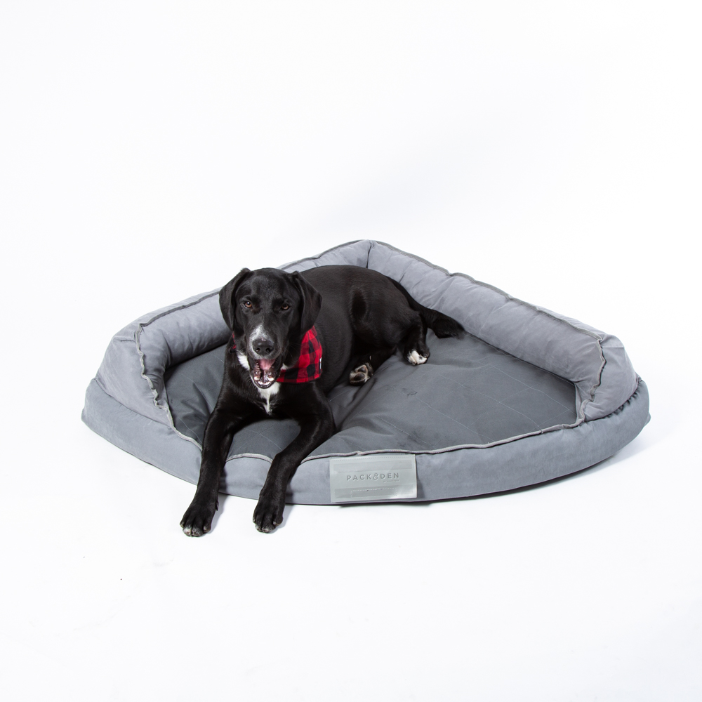 Image of PACK&DEN Corner Cuddler Bed With Orthopedic Foam & Odor Control