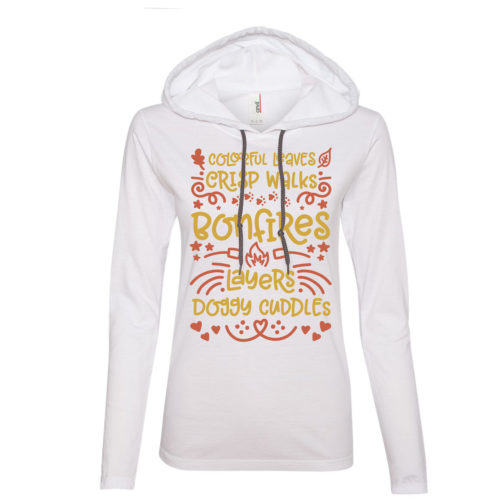 Fall Favorites Fitted T-Shirt Hoodie