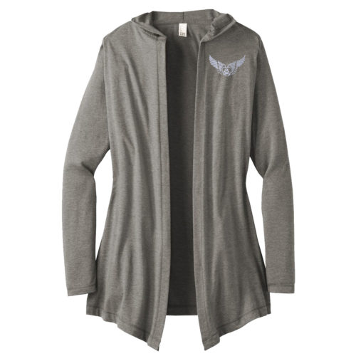 Second Chance Logo Embroidered Women's Hooded Cardigan