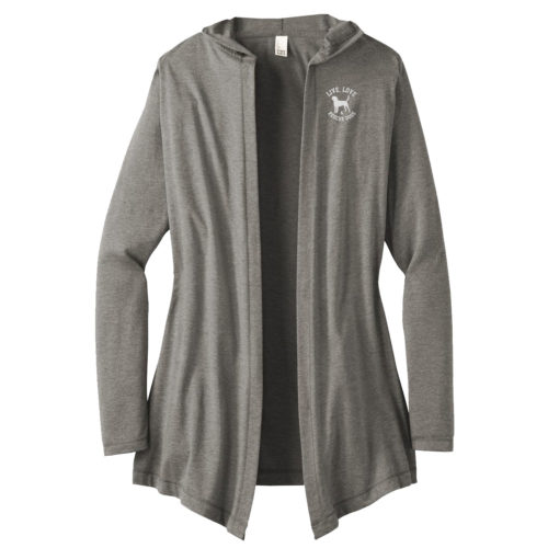 Live Love Rescue Embroidered Women's Hooded Cardigan