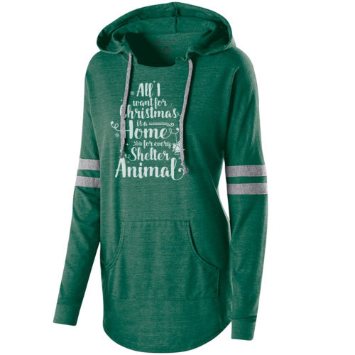 A Home For Every Shelter Animal Varsity Slouchy Hoodie