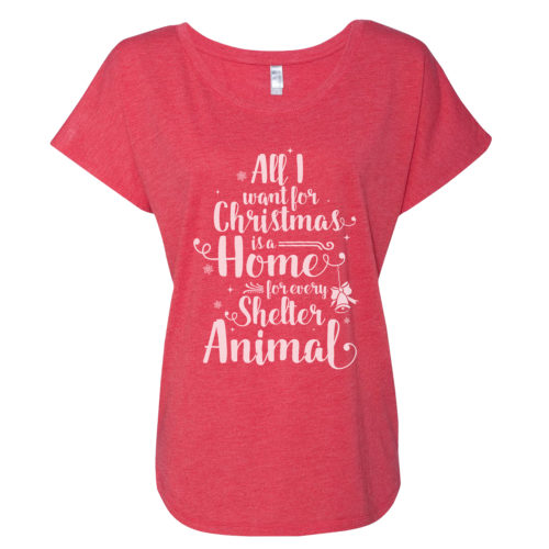 A Home For Every Shelter Animal Slouchy Tee