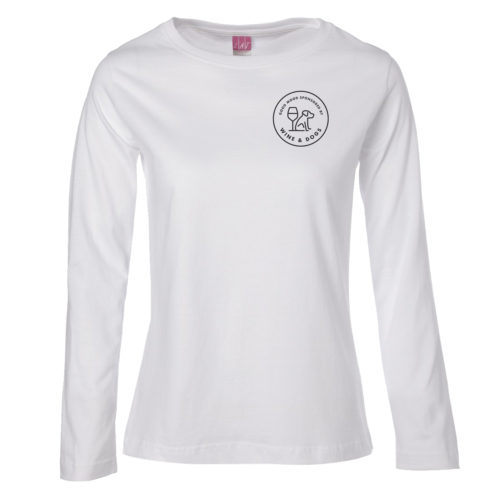 Sponsored By Wine & Dogs Fitted Long Sleeve Shirt