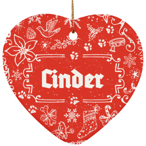 Ye Olde Christmas Personalized Ceramic Heart Ornament