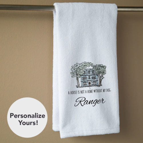 A House Is Not A Home Personalized Hand Towel