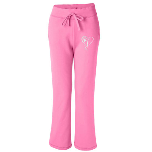 Elegant Heart Embroidered Women's Sweatpants