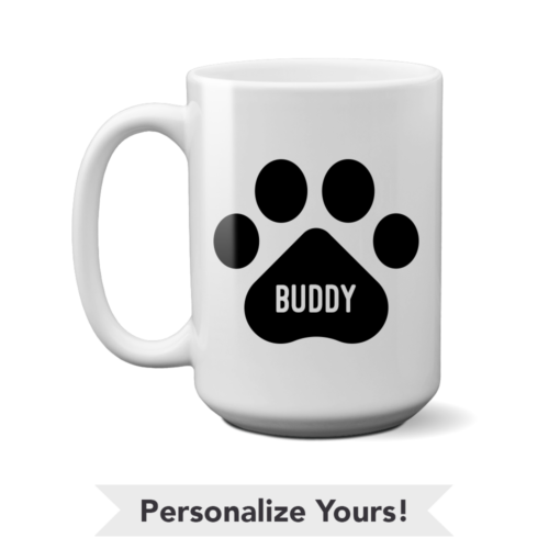 Black Paw Personalized 15 oz. Mug