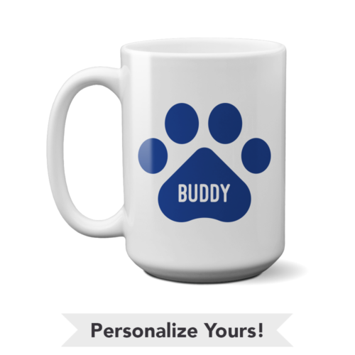 Blue Paw Personalized 15 oz. Mug