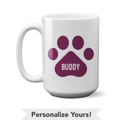 Plum Paw Personalized 15 oz. Mug