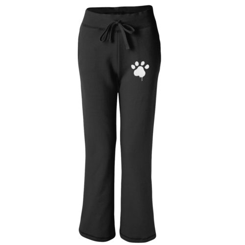 Watercolor Paw Embroidered Women's Sweatpants