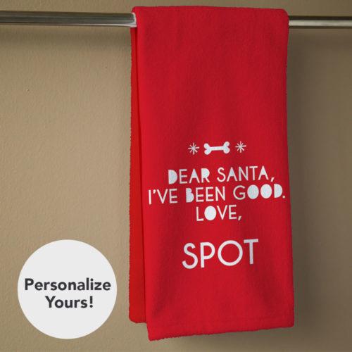 Dear Santa Personalized Hand Towel