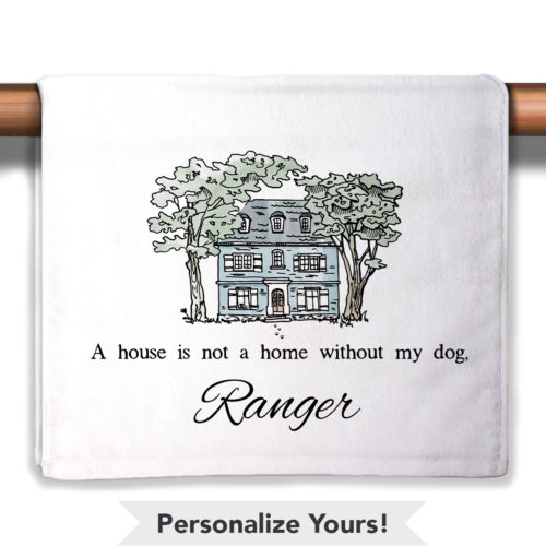 A House Is Not A Home Personalized Petite Decorative Towel