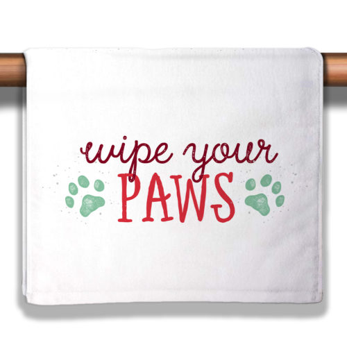 Wipe Your Paws Christmas Petite Decorative Towel