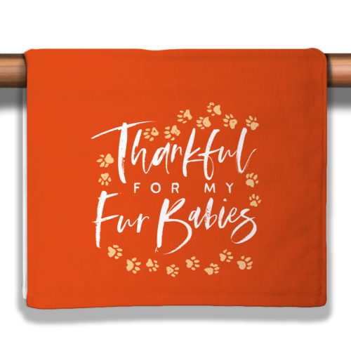 A Season of Thankfulness - Pumpkin Petite Decorative Towel