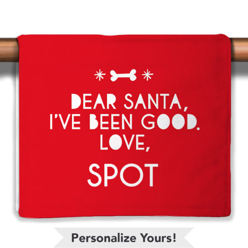 Dear Santa Personalized Petite Decorative Towel