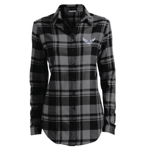 Second Chance Movement™️ Embroidered Ladies' Flannel Shirt