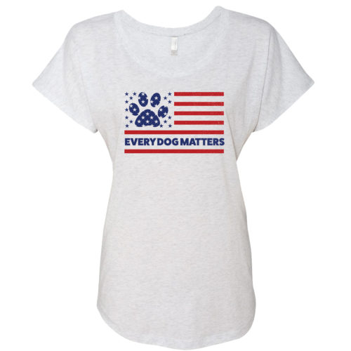 Every Dog Matters Flag Slouchy Tee