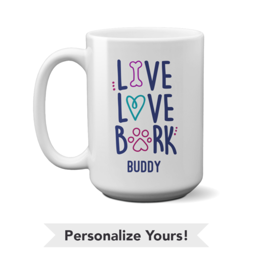 Live Love Bark Personalized 15 oz. Mug