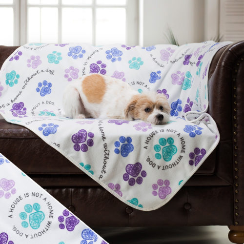 Give Warmth™ Buy One Give One Fleece Blanket: Home With Dog
