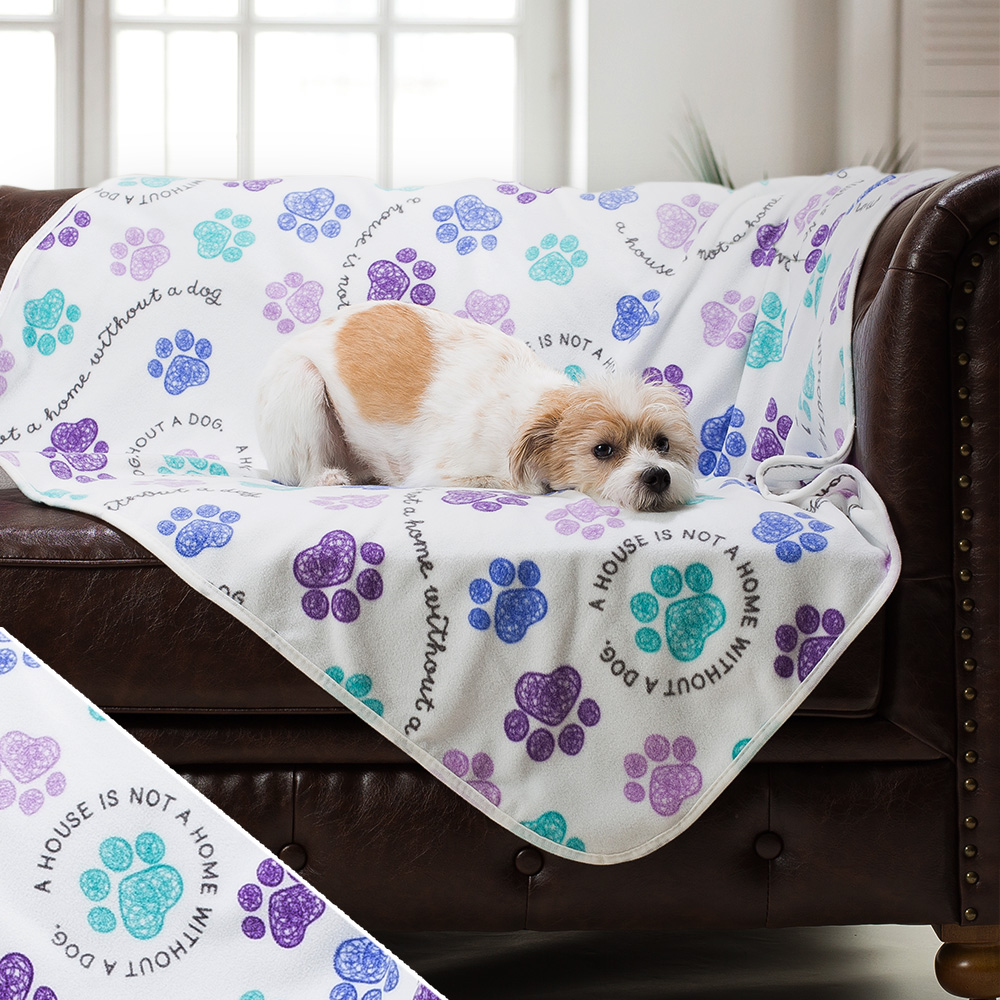Image of Give Warmth™ Buy One Give One Fleece Blanket: Home With Dog