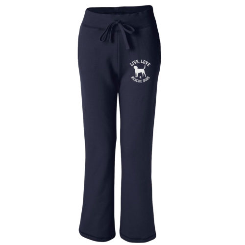 Live, Love, Rescue Embroidered Women's Sweatpants