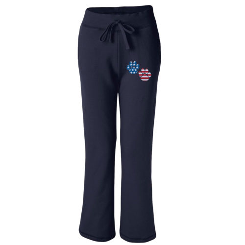 Flag Paws USA Embroidered Women's Sweatpants