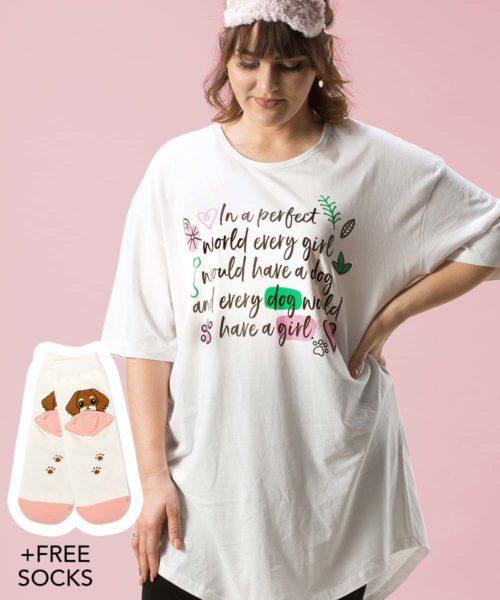 82934e851b ... Perfect World Dog One Size Sleepshirt + FREE SOCKS
