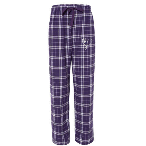 Elegant Heart Embroidered Ultra-Cozy Flannel Pants