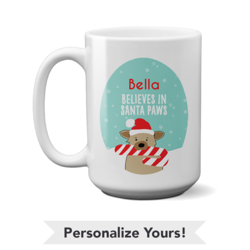 Santa Paws Personalized 15 oz. Mug