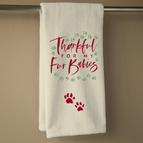 Thankful For My Fur Babies Hand Towel