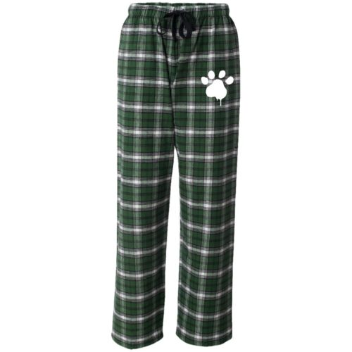 Watercolor Paw Embroidered Ultra-Cozy Flannel Pants
