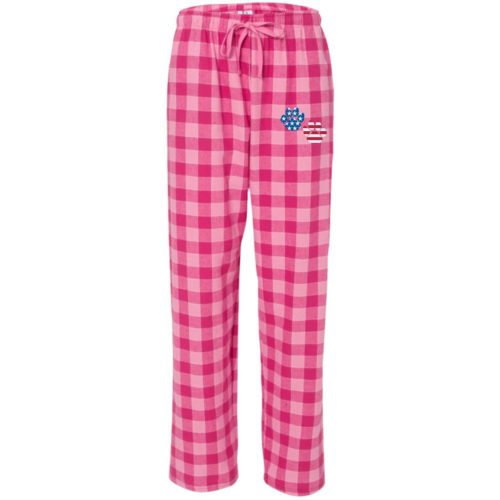 Flag Paws USA Embroidered Ultra-Cozy Flannel Pants