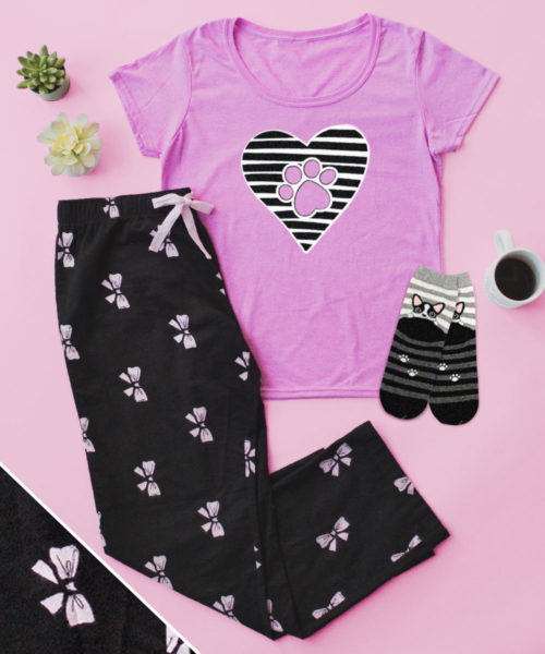 Paws Always in My Heart PJ Pant Set + FREE SOCKS