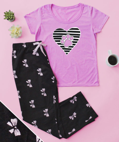 Paws Always in My Heart Pretty Bows PJ Pant Set