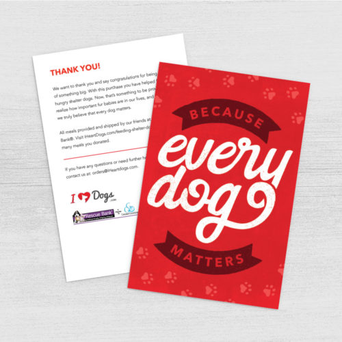 Every Dog Matters Program Card Digital Download – Print Instantly!