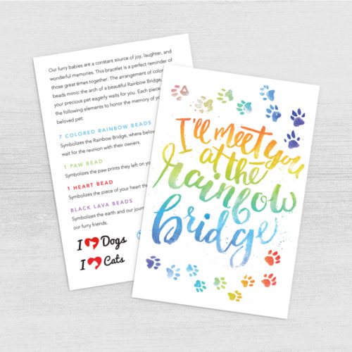Rainbow Bridge Lava Bead Bracelet Program Card Digital Download – Print Instantly!