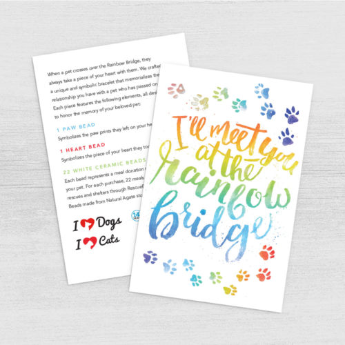 Rainbow Bridge Limited Edition Bracelet Program Card Digital Download – Print Instantly!