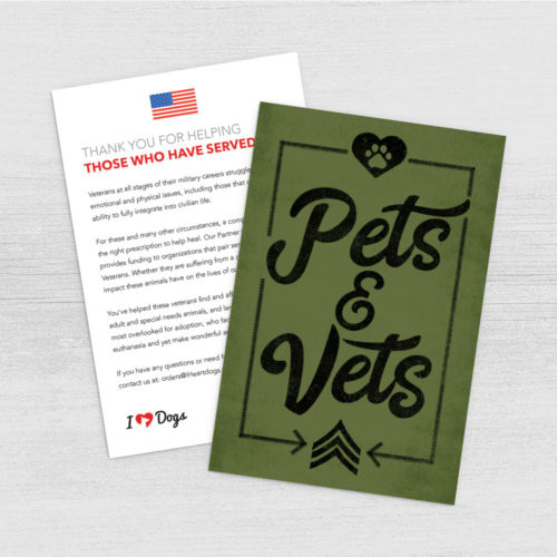 Pets & Vets Program Card Digital Download – Print Instantly!