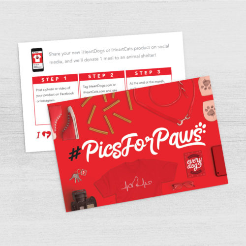 Pics For Paws Program Card Digital Download – Print Instantly!