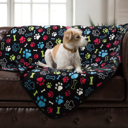 Give Warmth™ Buy One Give One Fleece Blanket: Bone & Paw