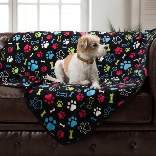 Give Warmth™ Buy One Give One Fleece Blanket: Bone & Paw