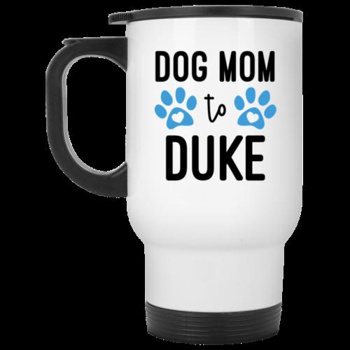 Dog Mom Personalized White Travel Mug