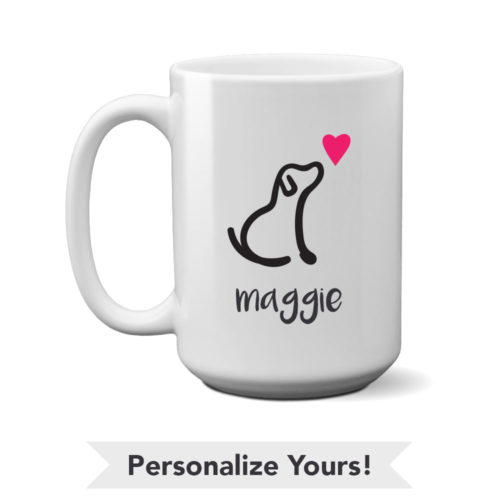 I Really Love This Dog Personalized 15 oz. Mug