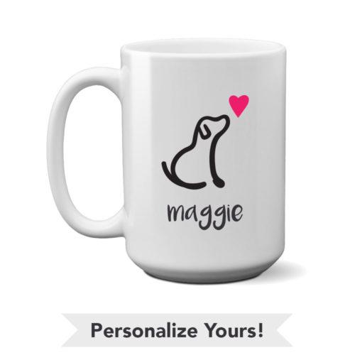 I Really Love This Dog Personalized 15 oz. Mug
