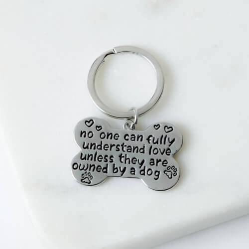 Love Is Being Owned By A Dog Keychain