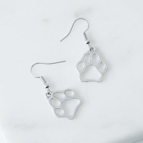 Elegant Paw Dangle Earrings
